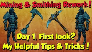 New! Mining & Smithing Rework! Tips & Tricks [Runescape 3] Day 1, First Look!