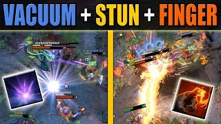 18 sec cooldown Finger with Vacuum + Lion Stun [AoE Wombo Combo] Dota 2 Ability Draft