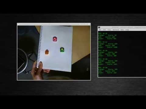 Tracking color blobs with webcam
