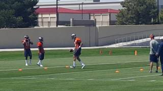 Broncos rookie WRs get some field work.