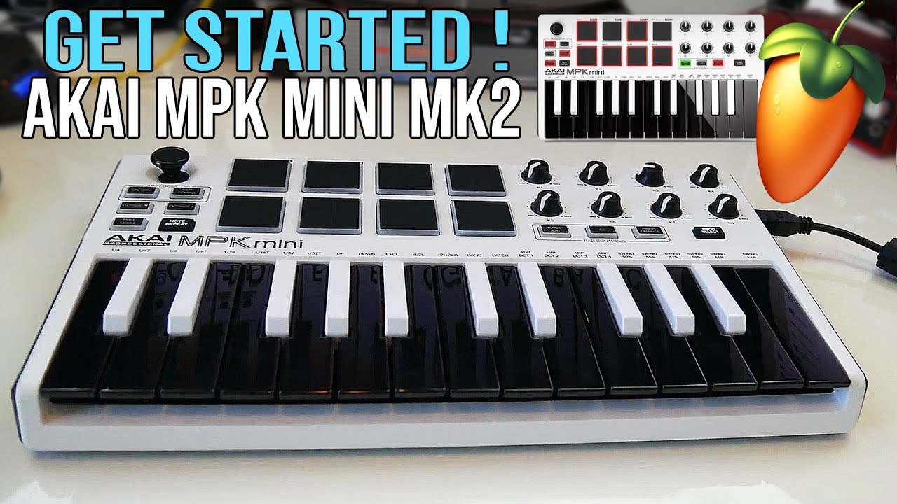 Akai Pro MPK mini MKII - Get Started Setup, Software Download, and  Installation + Unboxing (PC/MAC)