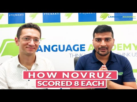 Novruz from Azerbaijan | 8 Each in PTE Academic | Language Academy PTE NAATI CCL Online Classes