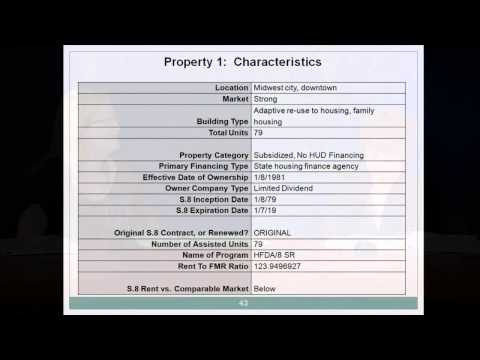 Partners in Housing: Multifamily Preservation Training, Lesson 5 - HUD - 7/20/12