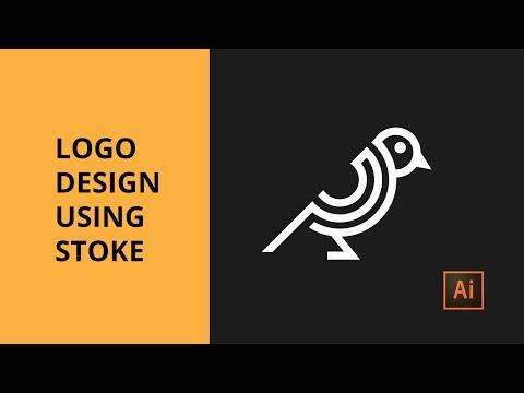 Design Line Bird Logo Using Stokes- Adobe Illustrator Tutorial