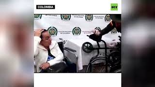 Old lady from Colombia busted with 3 kg of cocaine hidden inside her wheelchair