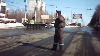 Разное: Контуженный мехвод или как военный БМД атакует фонарный столб
