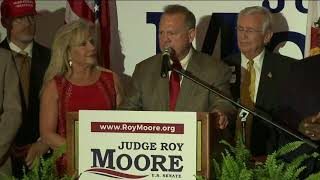 Firebrand jurist Roy Moore won the Alabama Republican primary runoff for U.S. Senate on Tuesday, defeating an appointed incumbent, Sen. Luther Strange, backed by U.S. President Donald Trump in an upset likely to rock the GOP establishment. (The Associated P0