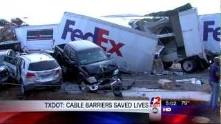 txdot cable barriers saved lives in 150 car pile up