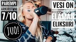 JUO! Vesi on elämä eliksiiri 💧 Kuinka paljon juon päivässä? - PAREMPI ARKIRUTIINI 7/10