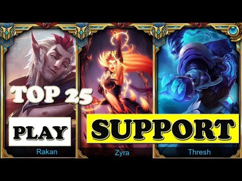 Top 25 Support Champions 3 | LoL Epic Support Montage Plays (League Of Legends)