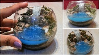 Miniature Waterfall Diorama DIY  / resin waterfall