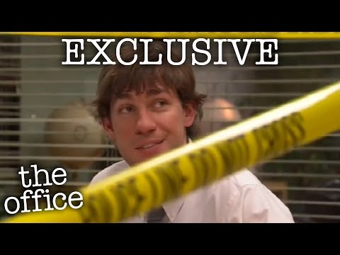 Jim & Dwight's Police Tape Prank (EXCLUSIVE) - The Office US