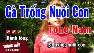 Karaoke Gà Trống Nuôi Con Tone Nam Nhạc Sống | Trọng Hiếu