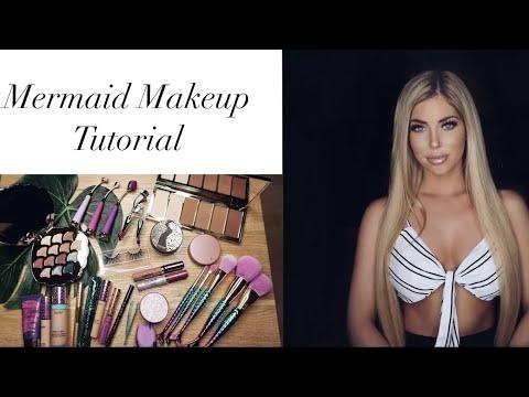 Tarte Mermaid Makeup Tutorial   SOPHIA PIERSON