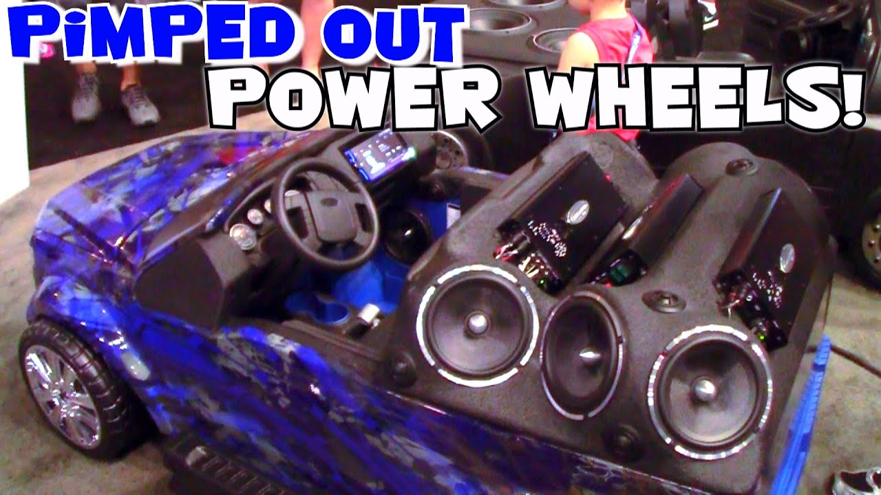 Worlds most expensive power wheels cars custom 12v sound system installs fiberglass body work youtube