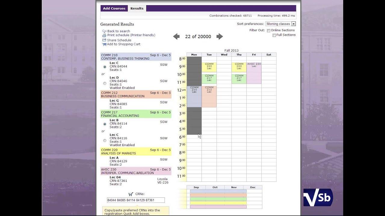 class schedule generator