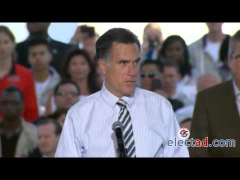 Mitt Romney Campaign Rally Tampa, FL - October 31 2012