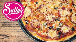 Pizza Rezept / Grundrezept Pizzateig & schnelle Soße / Sallys Welt