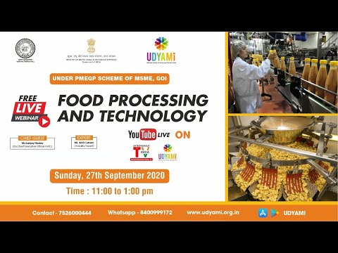 FREE WEBINAR ON FOOD PROCESSING AND TECHNOLOGY