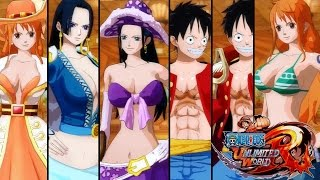 One Piece: Unlimited World Red - All My Clothing/Costumes + DLC UNLOCKED