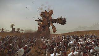 4000 Crossbowmen VS Giants Warhammer Total War