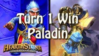 Hearthstone - Turn 1 win with Paladin thumbnail