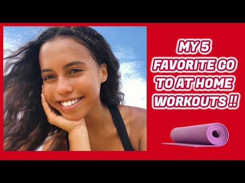 VLOGMAS | DAY 5 :  MY 5 GO TO AT HOME WORKOUTS || Asia Monet