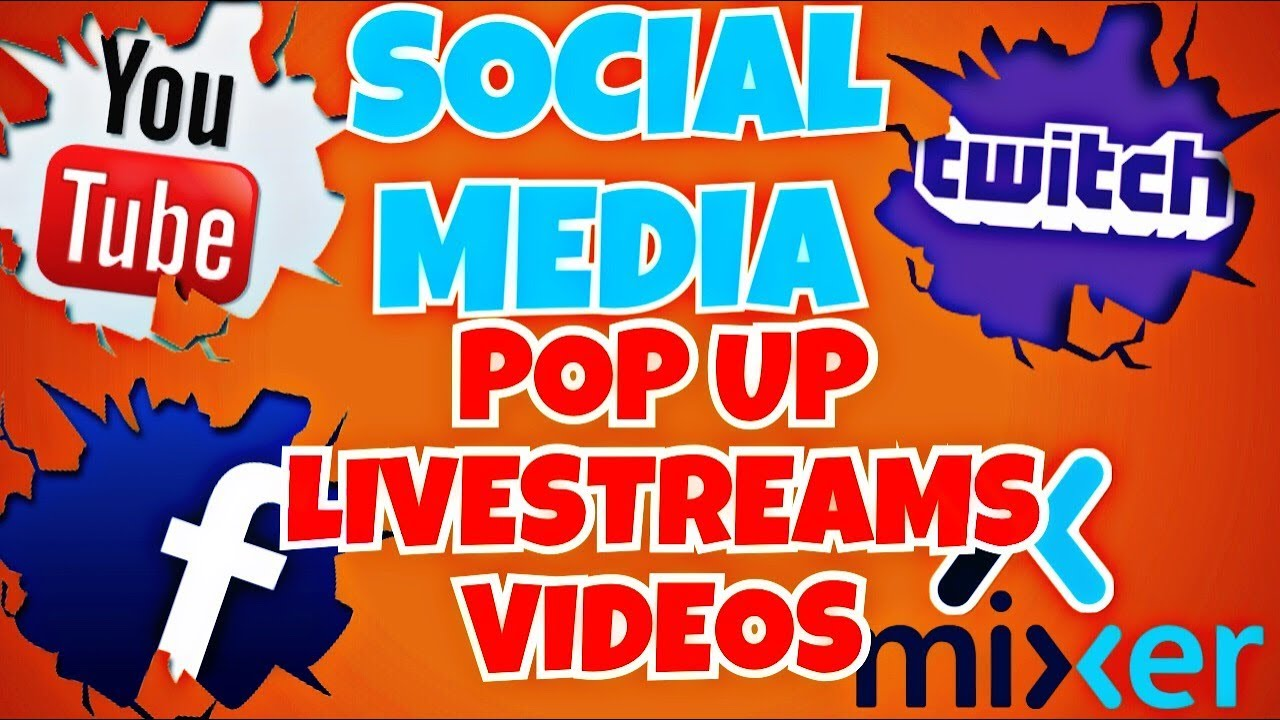 How To Add Social Media Pop Up On Obs Livestreams And Youtube Videos