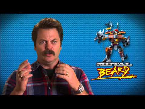 "The Lego Movie: Nick Offerman ""Metal Beard"" On Set Movie Interview"