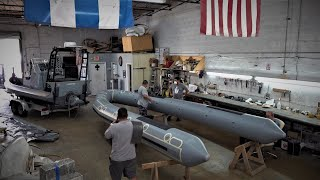 Military Rib Boat Retube Of a 730 Willard ! (How to Build Tube Special)