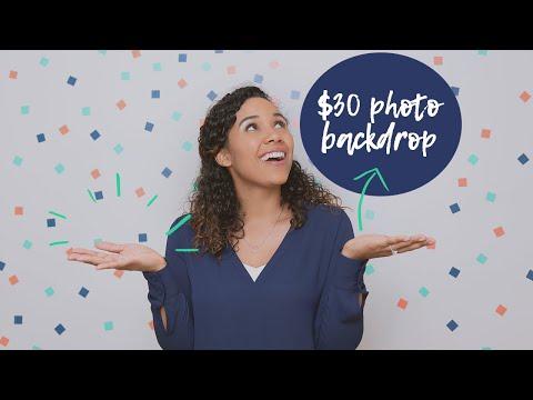 DIY Cheap Photo Backdrop