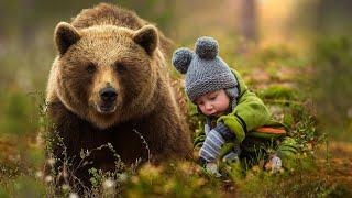 Дикий медведь забрал неизлечимую болезнь у маленького мальчика