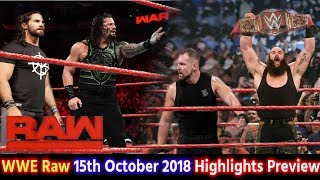 WWE Monday Night Raw 15th Oct 2018 Hindi Highlights Preview - Shield Break Up | Roman Reigns Results