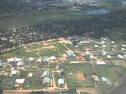 Flying into Ndola International Airport in Zambia
