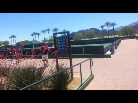 My first time in Indian Wells Tennis Garden