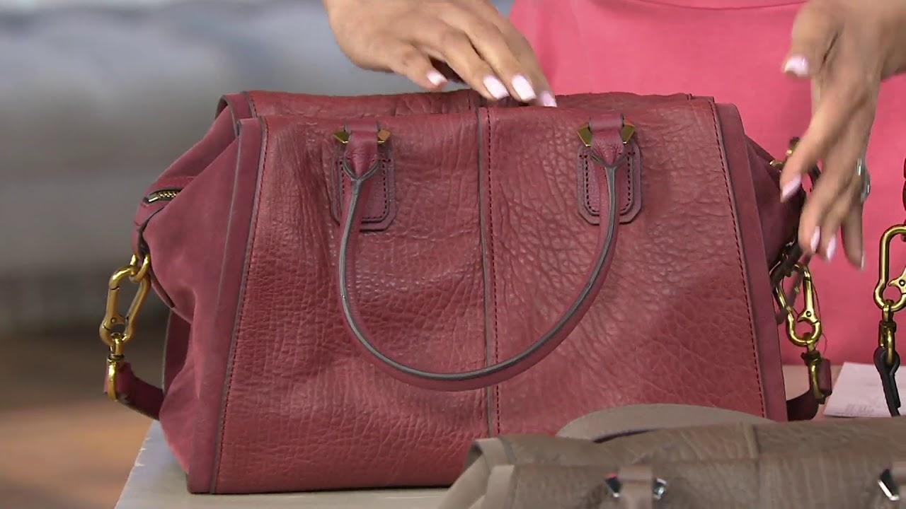 2e62e65156f3 orYANY Lamb Leather Satchel Handbag -Donna on QVC - YouTube
