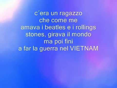 c'era un raggazzo lyrics by: Gianni morandi