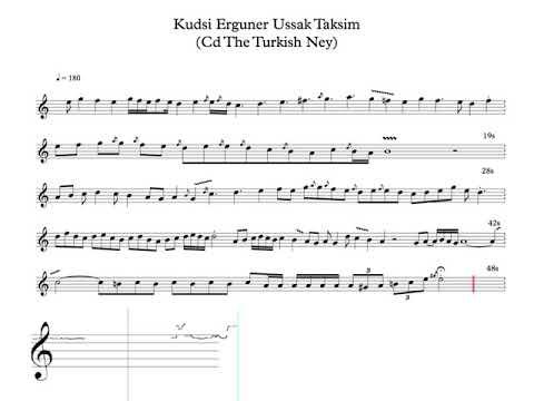 Kudsi Erguner - Taksim improvisation on Makam Ussak - transcription