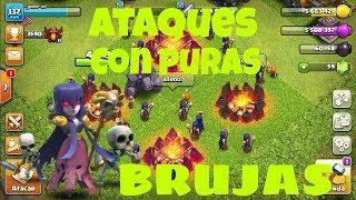 Ataque con puras brujas-*épico*-clash of clans-Th12-Makuin Gamer