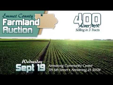 400 ACRE M/L FARMLAND AUCTION - EMMET CO., IOWA!