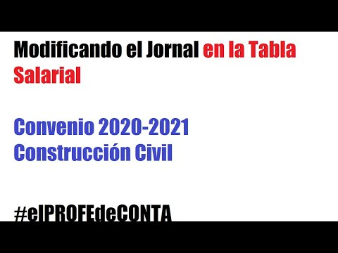 Modificación Del Jornal En Construcción Convenio 2020-2021