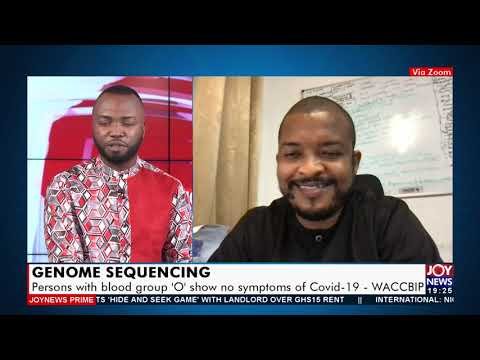 WACCBIP: Persons with blood group 'O' show no symptoms of COVID-19 - JoyNews Prime (23-7-21)