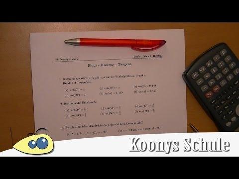 7000 Intro | Sinus - Kosinus - Tangens | Arbeitsblatt Trigonometrie ...