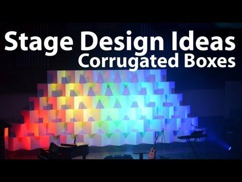 Church Stage Design Ideas : Corrugated Boxes