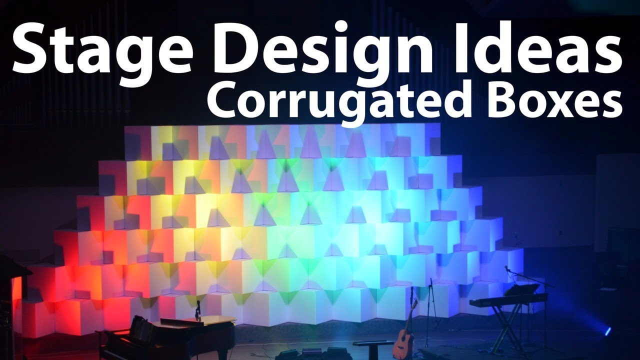 church stage design ideas corrugated boxes youtube - Stage Design Ideas