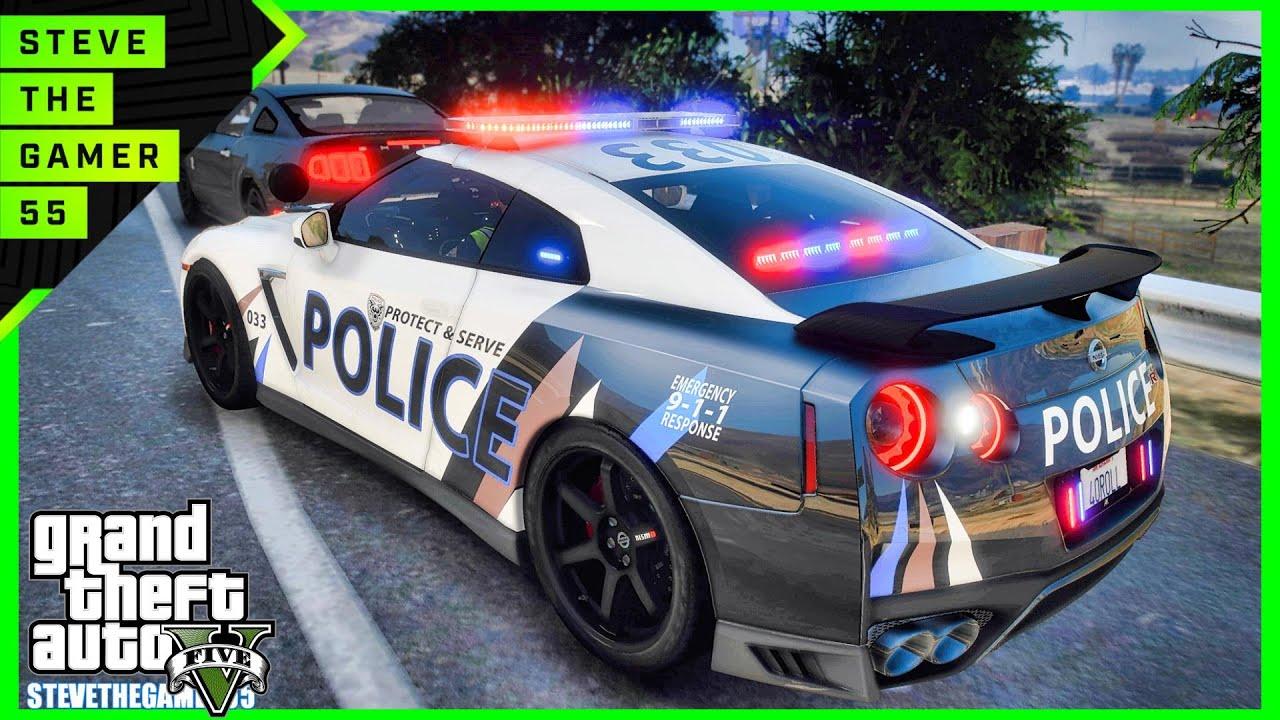 GTA 5 Mod Supercars Sunday Patrol| GTR| GTA 5 Lspdfr Mod| 4K