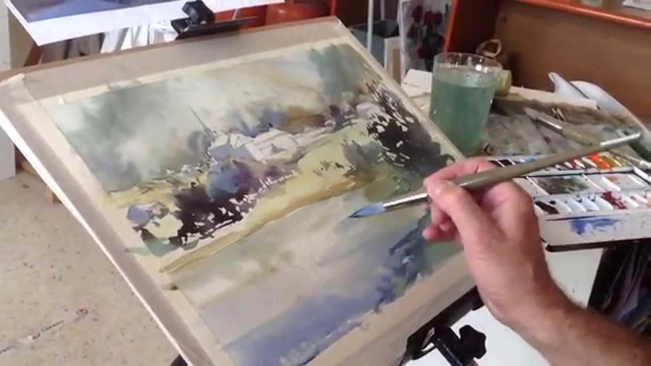 como pintar acuarela paso a paso. Watercolor demo. Watercolor tutorial.