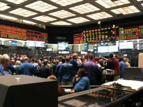CBOT Trading Pit Closing Bell, July 2010