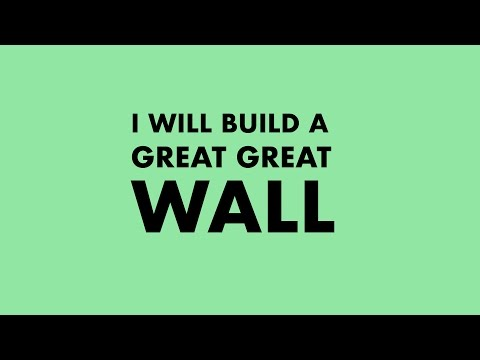Trump - I will build a great great wall - Kinetic Typography