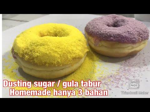 Cara Mudah Membuat Topping Donat Dengan Dusting Sugar Buatan Sendiri Youtube